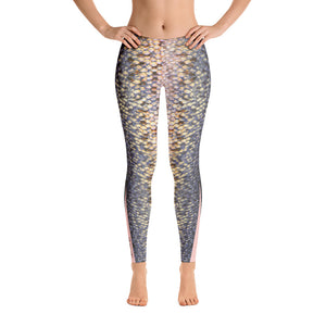 Pink Trout Fish Skin LeggingsApparel Womens Apparel Mermaid Life
