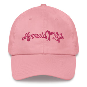 Mermaid Life Baseball Cap PinkHeadwear Womens Apparel Mermaid Life