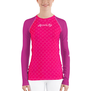 Pink Scales Swim Sun ShirtPerformance Womens Apparel Mermaid Life