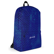 Load image into Gallery viewer, Mermaid Life Navy Scales BackpackBags Womens Apparel Mermaid Life