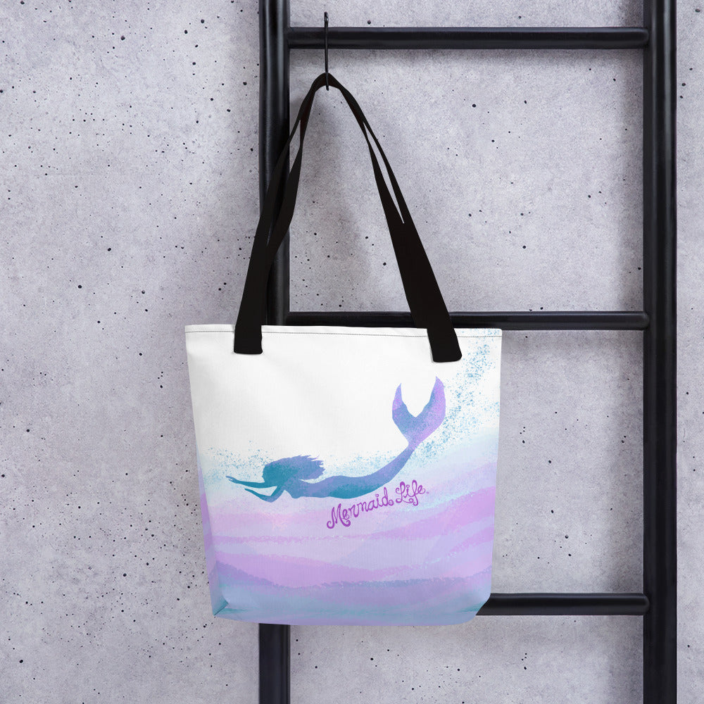 Swimming Mermaid Beach Bag LargeBags Womens Apparel Mermaid Life