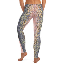 Load image into Gallery viewer, Pink Trout Fish Skin LeggingsApparel Womens Apparel Mermaid Life