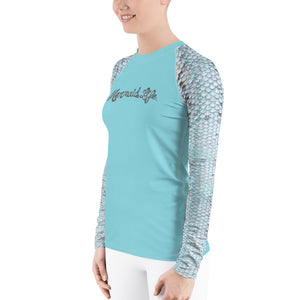 Blue Trout Swim Sun ShirtPerformance Womens Apparel Mermaid Life