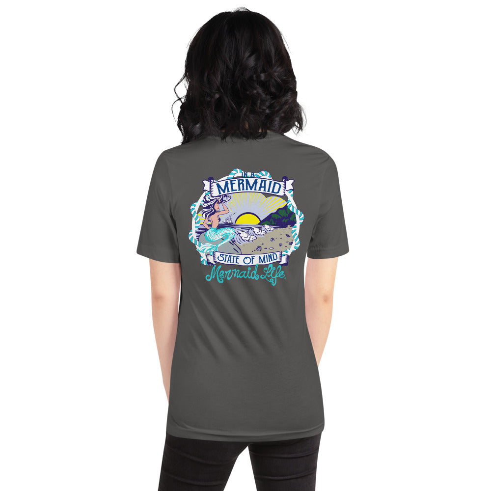 Mermaid State of Mind Full Back T-ShirtApparel Womens Apparel Mermaid Life