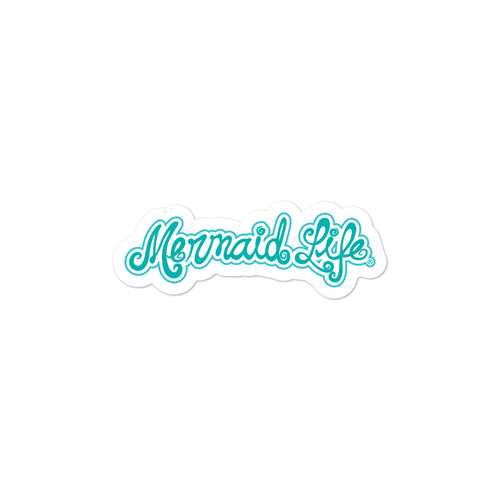 Mermaid Life Vinyl sticker BlueDecals Womens Apparel Mermaid Life