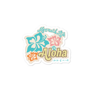 Aloha State of Mind Vinyl stickersDecals Womens Apparel Mermaid Life