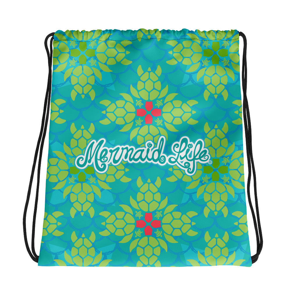 Sea Turtle Splendor SackpackBags Womens Apparel Mermaid Life