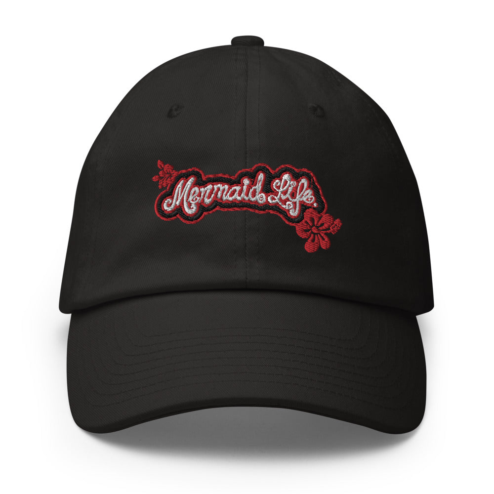 Mermaid Life Hibiscus Ball Cap - Made in the USAHeadwear Womens Apparel Mermaid Life