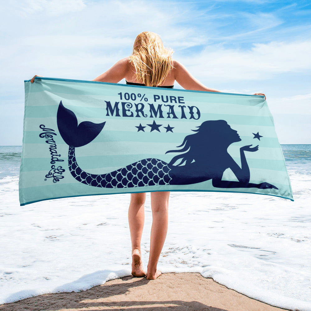 Pure Mermaid Beach TowelBeach Towels Womens Apparel Mermaid Life
