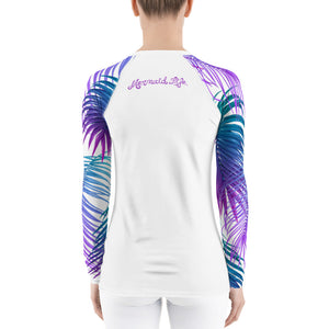 Tropics Swim Sun Shirt WhitePerformance Womens Apparel Mermaid Life