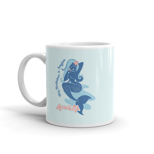 Seaglass is my Birthstone Mug 11ozDrinkware Womens Apparel Mermaid Life