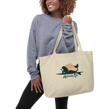 Load image into Gallery viewer, Surfer Mermaid Large Ecoc tote bagBags Womens Apparel Mermaid Life