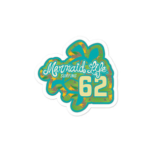 1962 Sea Turtle Surf Bubble-free stickersDecals Womens Apparel Mermaid Life
