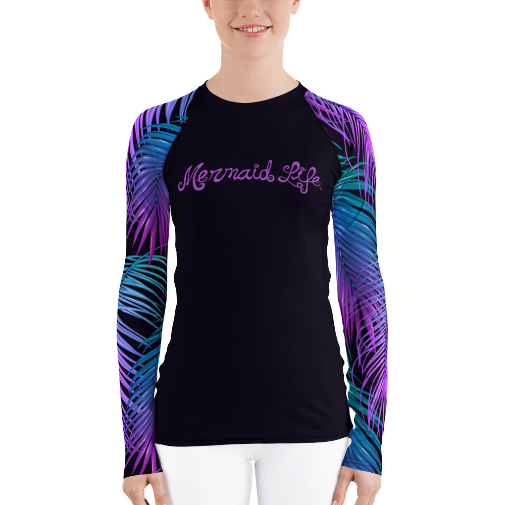 Tropics Swim Sun Shirt BlackPerformance Womens Apparel Mermaid Life