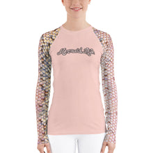 Load image into Gallery viewer, Pink Trout Swim Sun ShirtPerformance Womens Apparel Mermaid Life