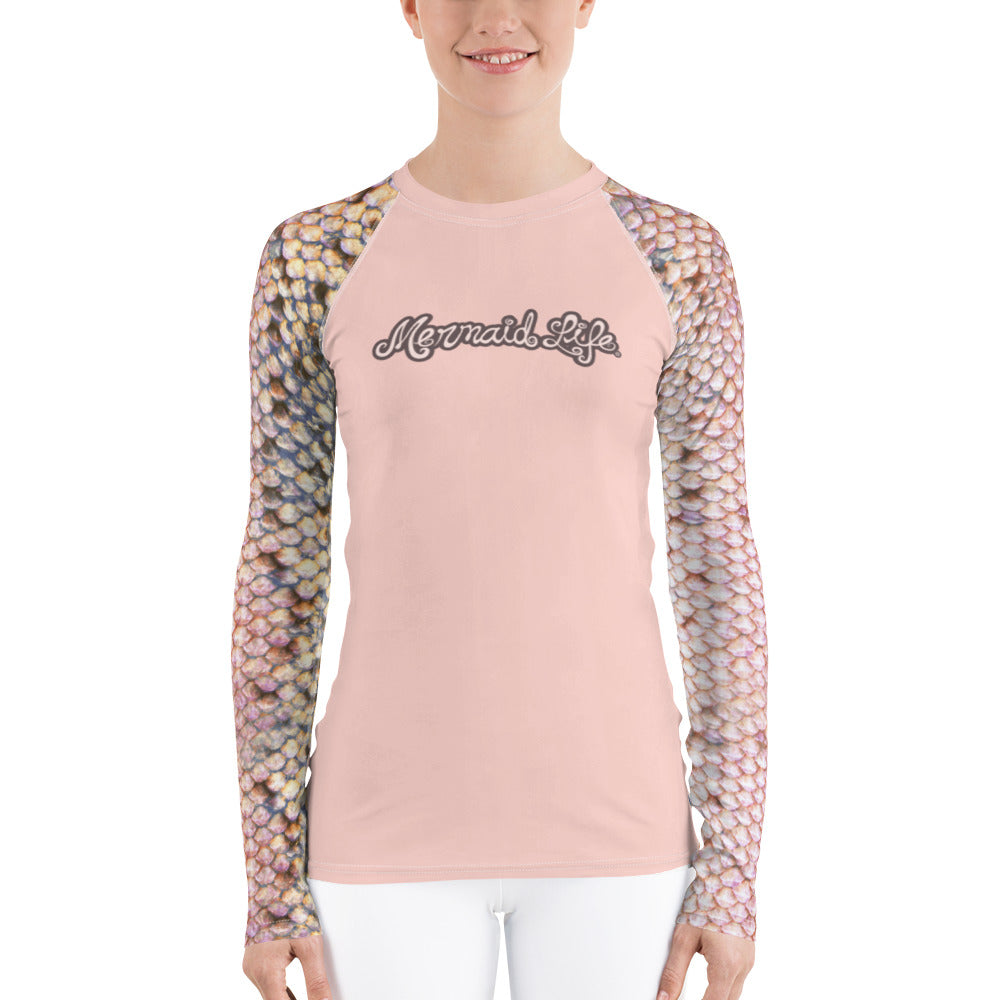 Pink Trout Swim Sun ShirtPerformance Womens Apparel Mermaid Life