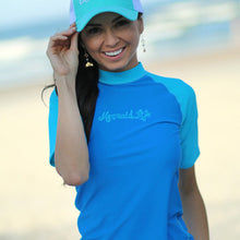 Load image into Gallery viewer, Short Sleeve Rash Guard BluePerformance Womens Apparel Mermaid Life