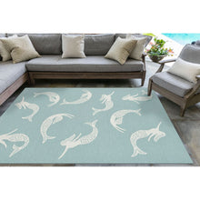 Load image into Gallery viewer, Swimming Mermaids Hand Tufted Indoor Outdoor Area RugsHome Womens Apparel Mermaid Life