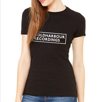 COLDHARBOUR LOGO ON BLACK TEE - LADIES