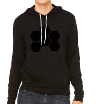 MARKUS SCHULZ WTW LOGO BLACK ON BLACK POCKET HOODIE - UNISEX