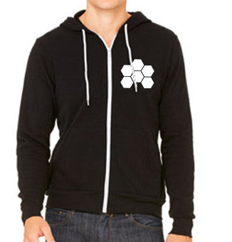 MARKUS SCHULZ WTW LOGO WHITE ON BLACK ZIPPER HOODIE - UNISEX