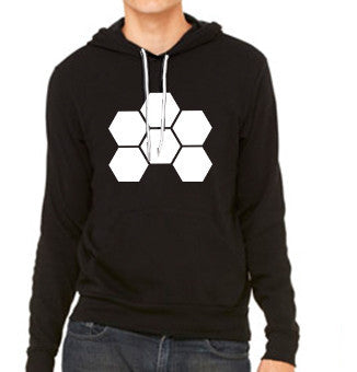 MARKUS SCHULZ WTW LOGO WHITE ON BLACK POCKET HOODIE - UNISEX