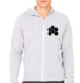 MARKUS SCHULZ WTW LOGO BLACK ON HEATHER GREY ZIPPER HOODIE - UNISEX