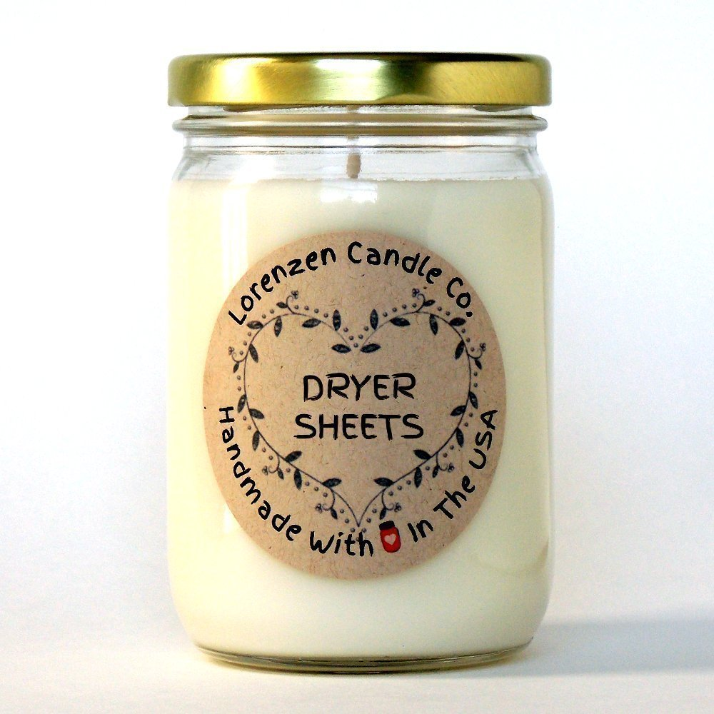 Dryer Sheets Soy Candle, 12oz