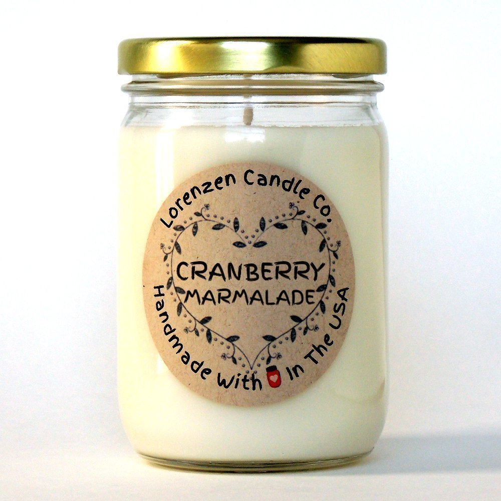 Cranberry Marmalade Soy Candle, 12oz