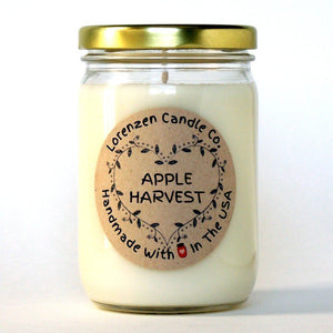Apple Harvest Soy Candle, 12oz | Handmade in The USA with 100% Soy Wax