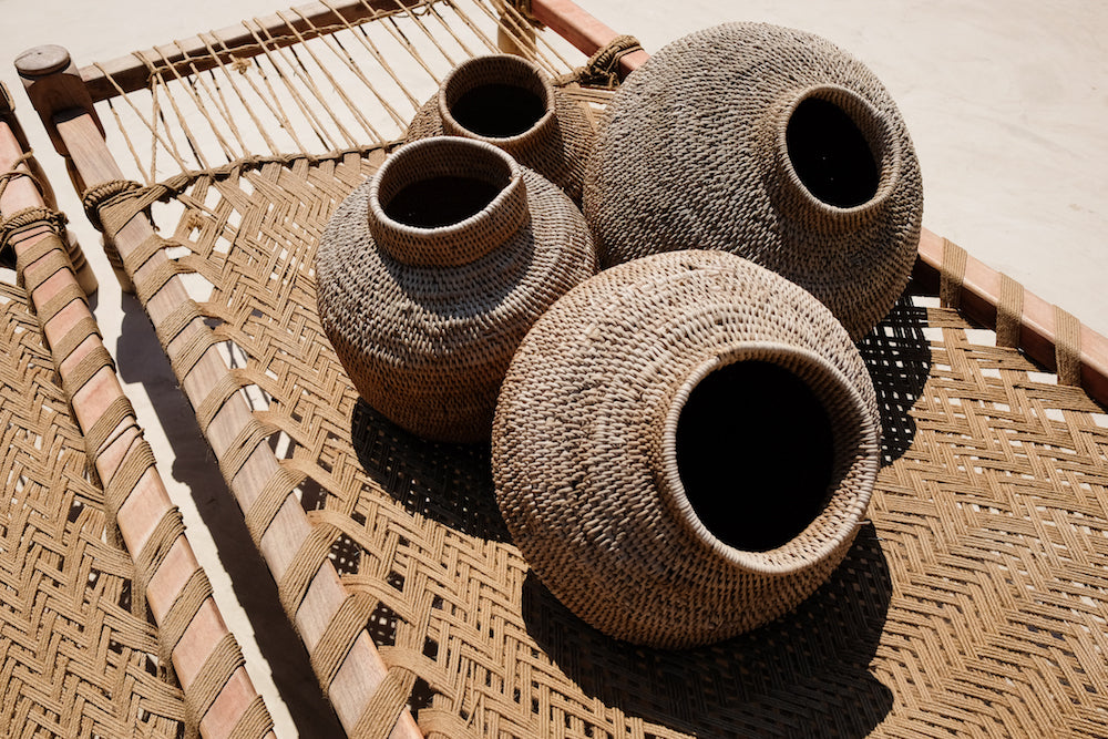 Baskets on Beach