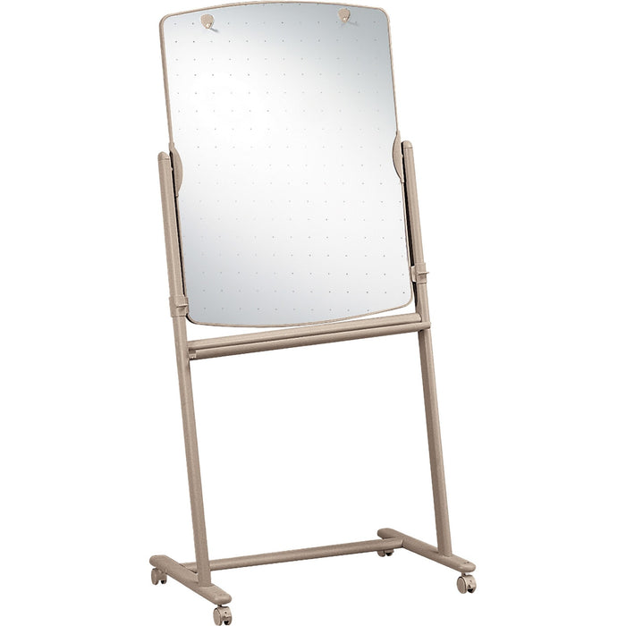 "Quartet® Reversible Total Erase®Mobile Easel, Whiteboard, 31"" x 41"", Neutral Frame"