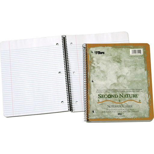 TOPS Second Nature College Rule Spiral Notebooks - Letter