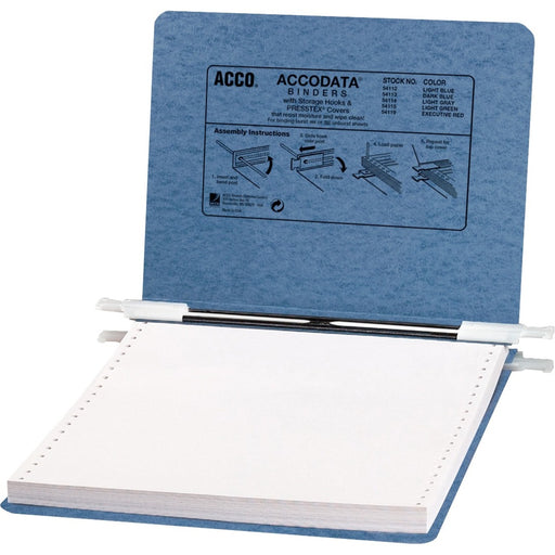 "ACCO® PRESSTEX® Covers w/ Hooks, Unburst, 9 1/2"" x 11"" Sheets, Light Blue"