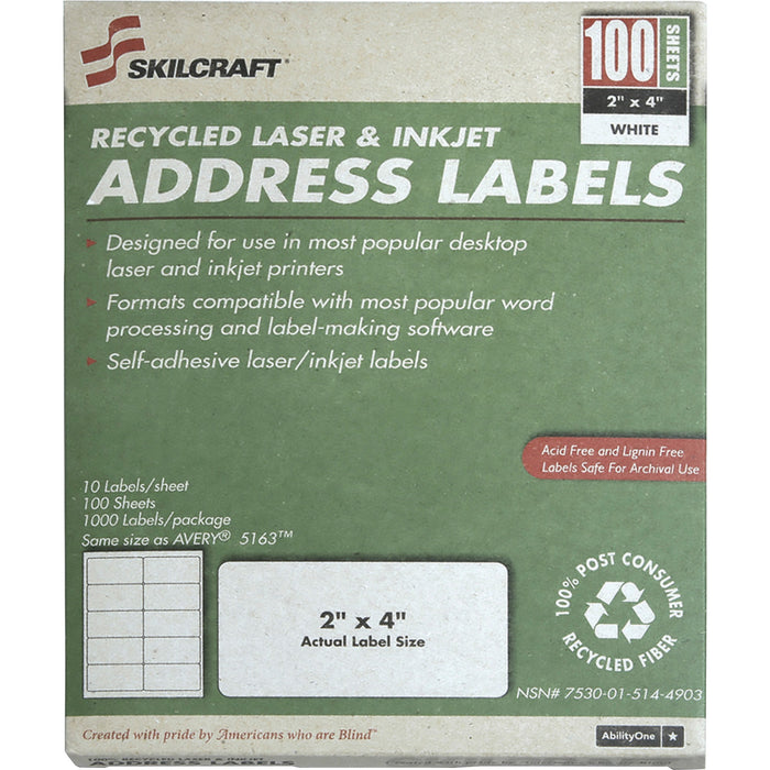 SKILCRAFT Laser Shipping Label