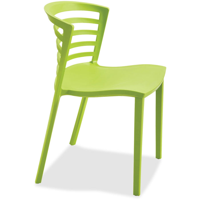 Safco Entourage Stack Chair - Grass (Quantity 4)
