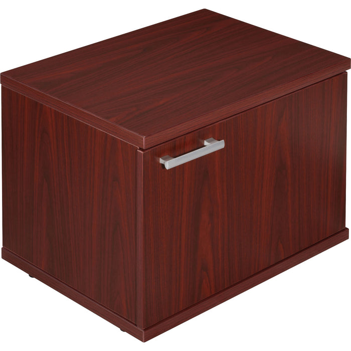 Lorell Concordia Series Mahogany Laminate Desk Ensemble Storage Cabinet