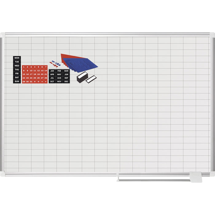 "MasterVision 2"" Grid Magnetic Gold Ultra Board Kit"