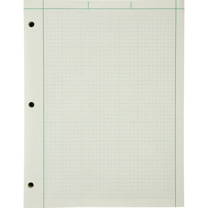 Ampad Green Tint Engineer's Quadrille Pad - Letter