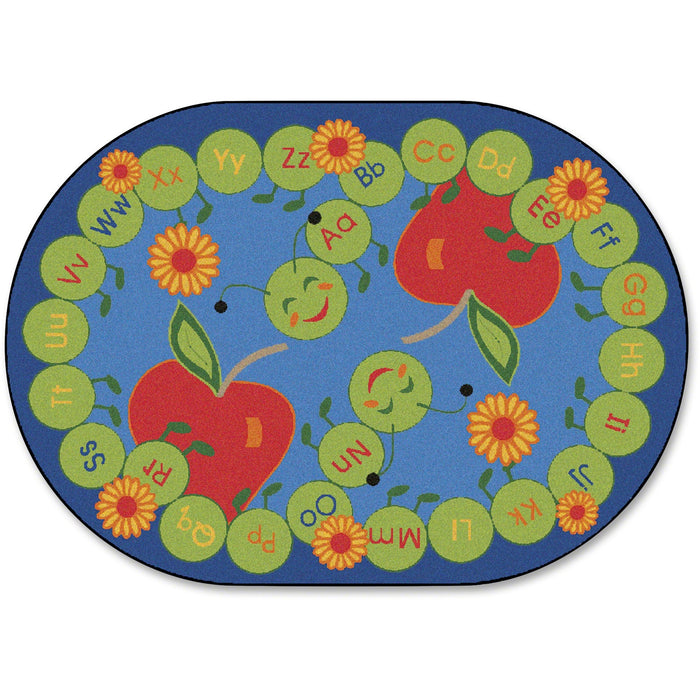 Carpets for Kids ABC Caterpillar Oval Seating Rug