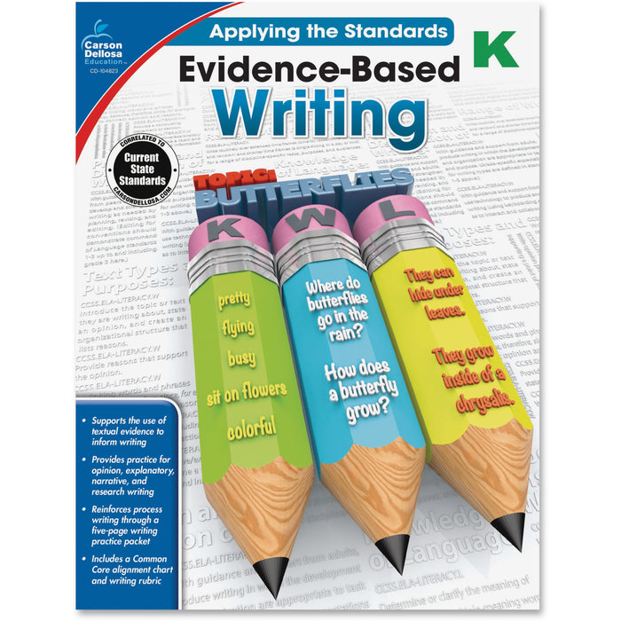 Carson-Dellosa Grade K Evidence-Based Writing Workbook Printed Book