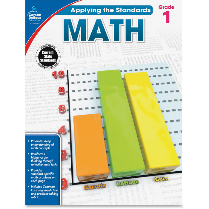 Carson-Dellosa Grade 1 Applying the Standards Math Workbook Printed Book