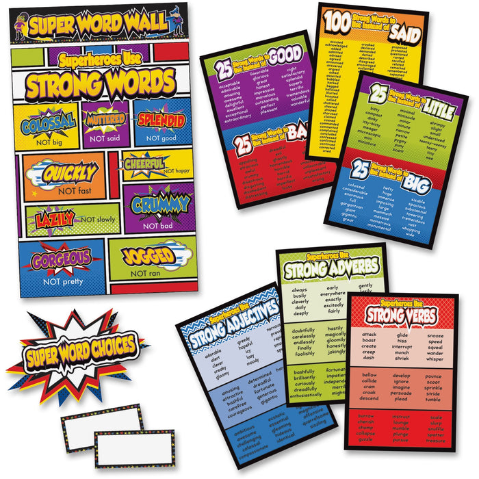 Carson-Dellosa Super Power/Word Choices Bulletin Board Set