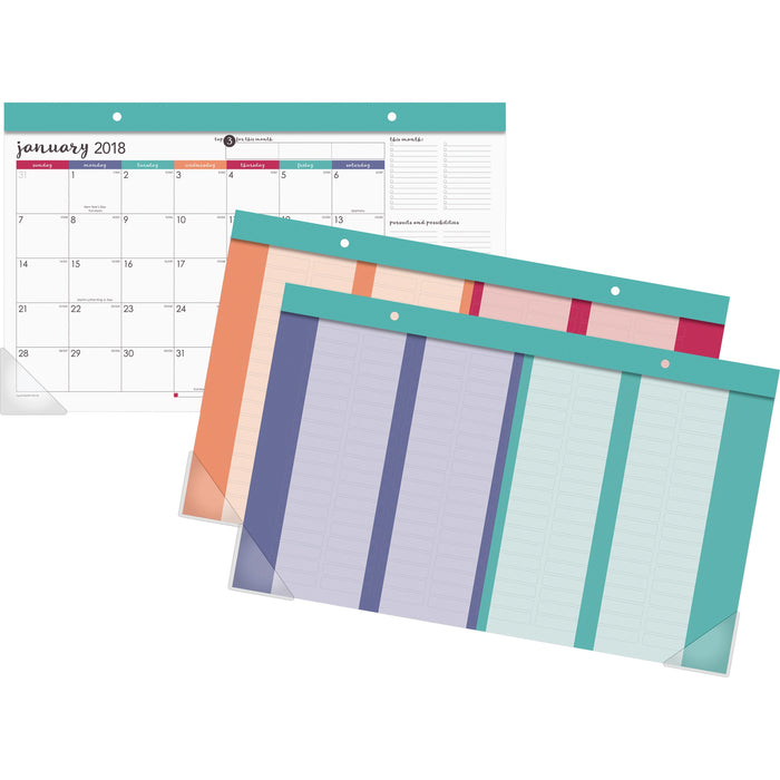 At-A-Glance Harmony Colorful Companct Monthly Desk Pad