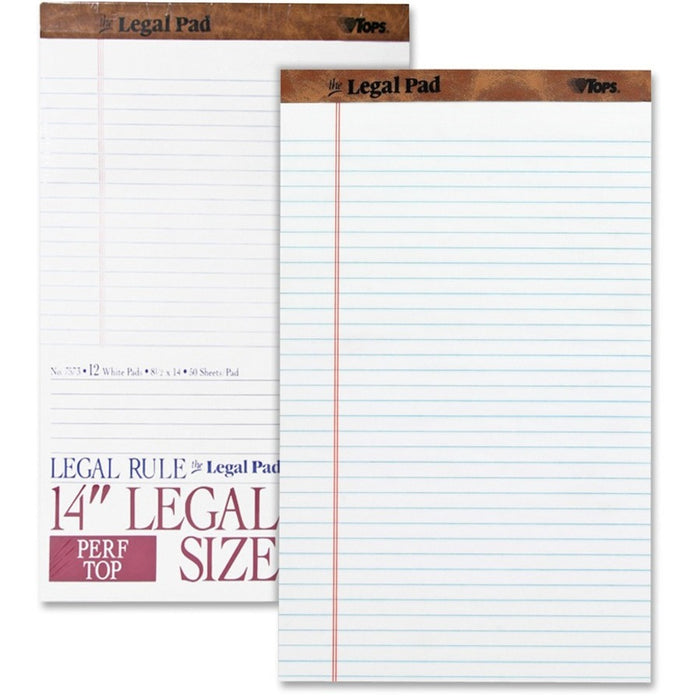 TOPS Wide - ruled Perforated Legal Pad - Legal
