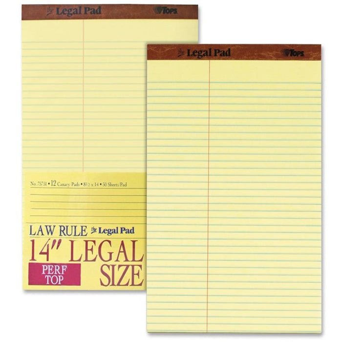 TOPS Legal Law Rule Pads - Legal