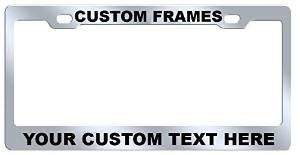 Custom Stainless Steel License Plate Frame