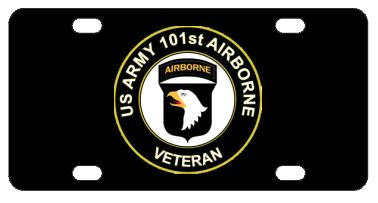 Army 101st Airborne Veteran License Plate