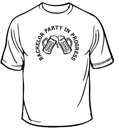 Bachelor Party In Progress Wedding T-Shirt