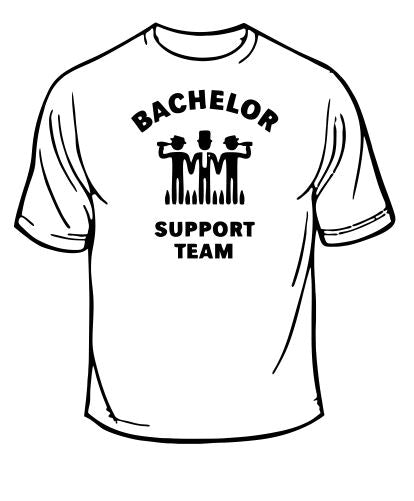 Bachelor Party Support Team Wedding T-Shirt